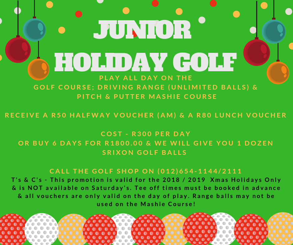 Junior Holiday Golf Offer