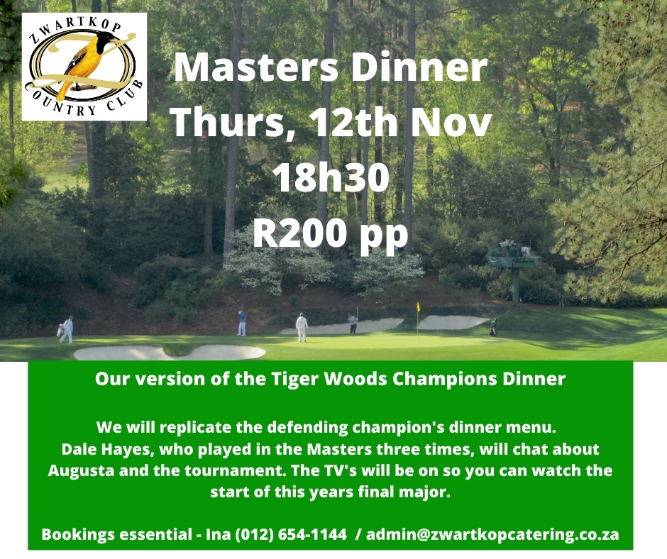 Masters Dinner